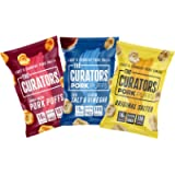 THE CURATORS Pork Puffs - Variety Pack, 22g (12 Packs) - High Protein Low Carb Keto Savoury Snacks with Crunch, Salt…