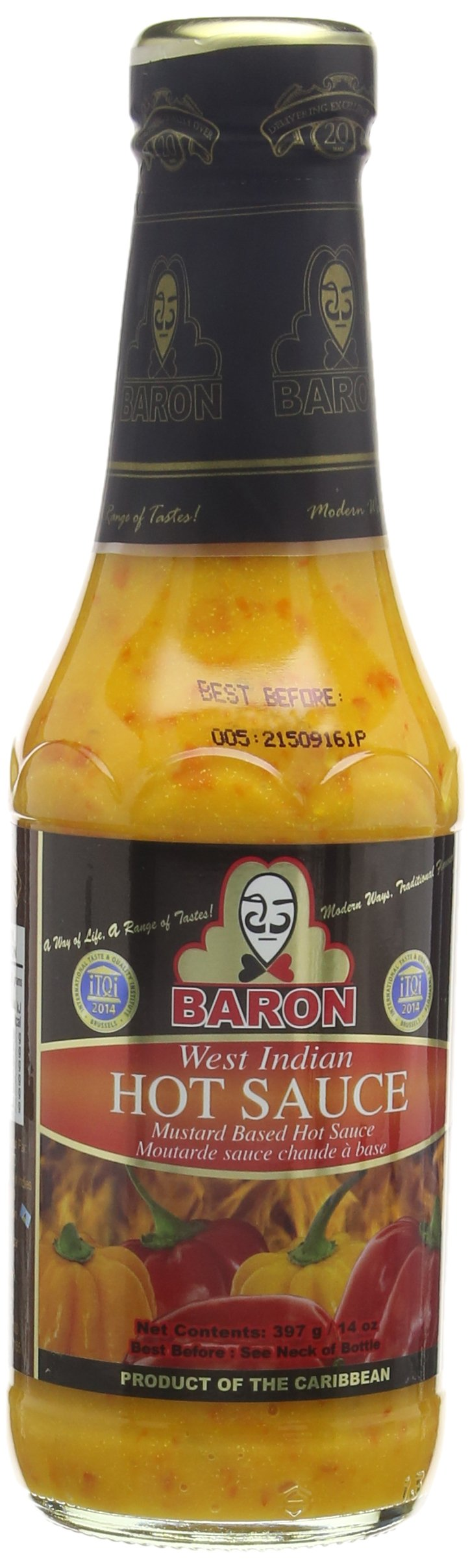Baron Wi Hot Sauce Large 397 ml (Pack of 6) 1