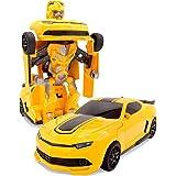 Amitasha Plastic Transform Robot Racing Car, Pack Of 1, Multicolour