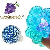 UvaQuetsch ® Squeezy P Quetschball +++ inkl. Geschenkbox +++ 2019 +++ Antistressball Stressball Knetball Quetschi (Blau)