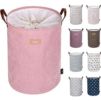 Kleidung Baumwolle klappbar Organizer Korb mit Griff f/ür M/ädchen W/äschesammler Baby Kinderzimmer 1 Pink MOGOI Spielzeug Aufbewahrungskorb Schlafzimmer Geschenk K/örbe