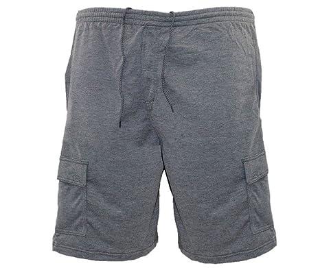 Mens Duke Big Plus Size Casual Black Cargo Shorts Cotton Blend 3XL 4XL 5XL 6XL