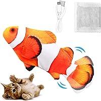 Dyroe Katzenspielzeug Elektrische Fische, Elektrisch Spielzeug Fisch mit Katzenminze Katzen Spielsachen Interaktive…