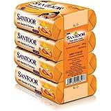 Santoor Sandal and Turmeric Soap (Pack of 4 soaps 125g each)