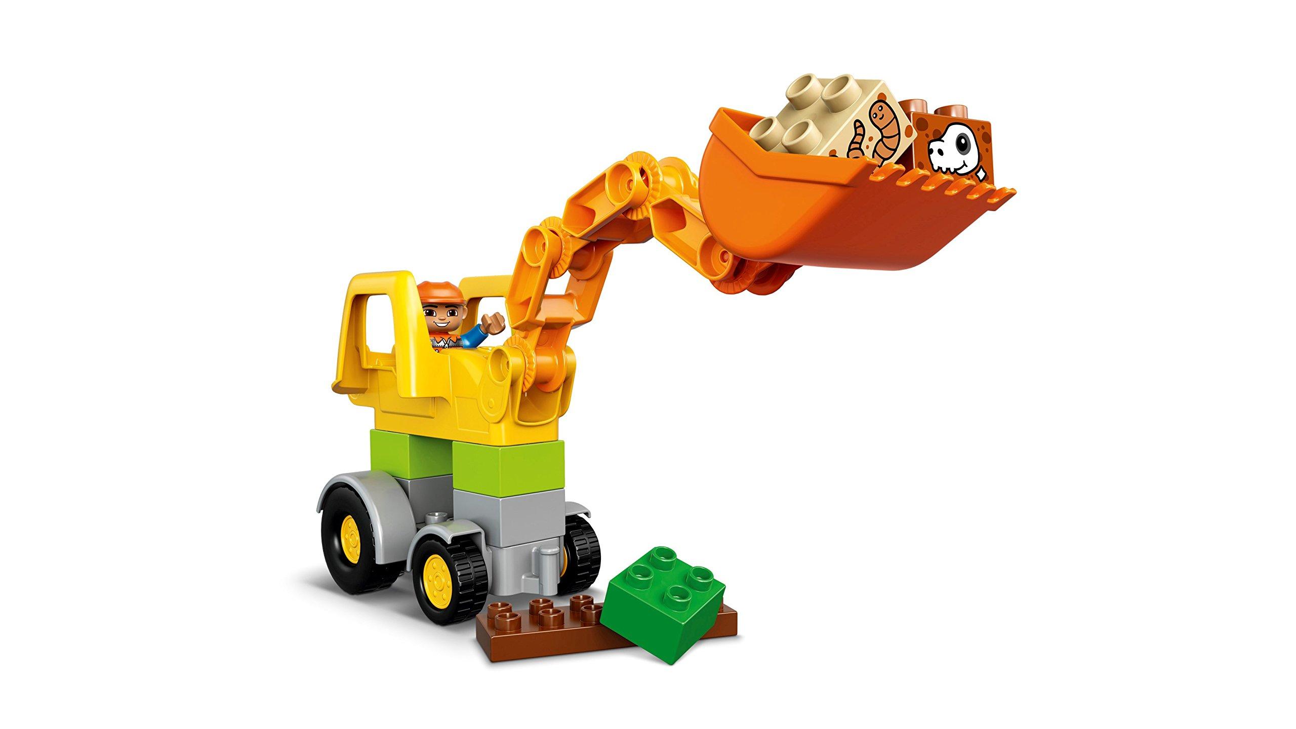 LEGO Duplo Camion e Scavatrice Cingolata con Due Personaggi, Set di Costruzioni per Bambini da 2-5 Anni, Multicolore… 4 spesavip