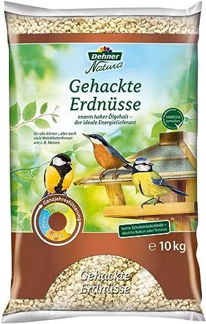 Dehner Natura Wildvogelfutter, gehackte Erdnüsse, 10 kg