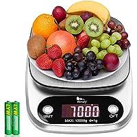 Balance de cuisine numérique - De 1 g à 10 kg - En acier inoxydable - Haute précision - Avec écran LCD et batterie…