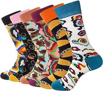 BONANGEL Chaussettes pour Femmes Lot en Coton Chaussettes Aliments Imprim/é Chaussettes,Chaussettes pour Filles Cadeau Chaussettes Animaux Chaussettes Fantaisie