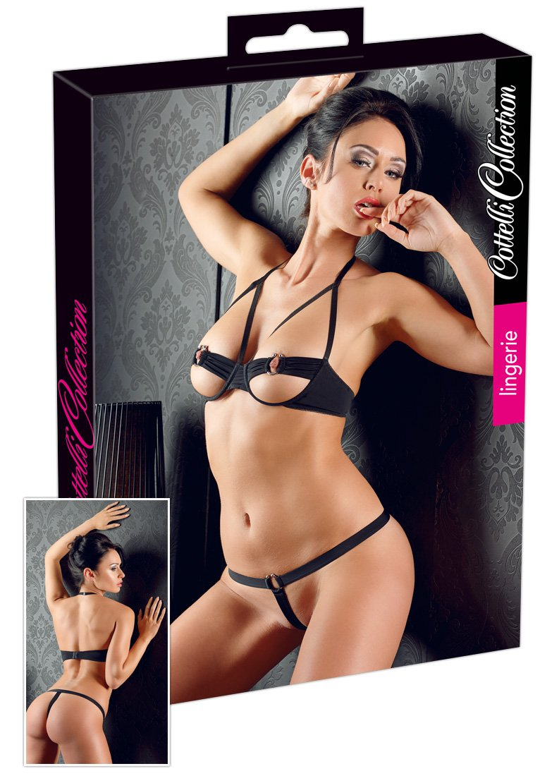 Cottelli Collection Intimo Lingerie Hot Metal, Nero - 108 gr