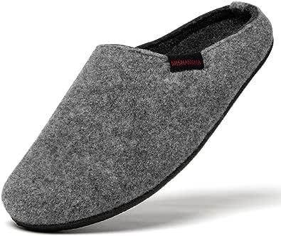 Mishansha Classic Uomo Donna Pantofole di Feltro Adulto Unisex Home Pantofole
