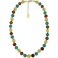 Venetiaurum - Collana girocollo per donna con perle in vetro originale di Murano e argento 925 - Gioiello made in Italy…