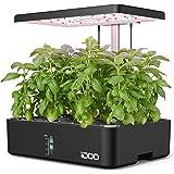 iDOO Hydroponisches Anzuchtsystem, 12Hülsen Smart Garden, 23W LED Pflanzenlampe mit Automatisch Timer, Höhenverstellbar Indoo