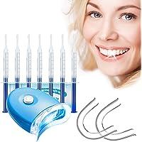Kit Blanchiment Dentaire, Gel de Blanchiment des Dents*10, LED Lampe*1, Plateau Dentaire*2, Blanchiment Dentaire…