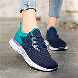 Prevently Chaussures de Course de Tennis pour Femmes, Marche Sportive antidérapante Respirante Maille légère Baskets de Sport