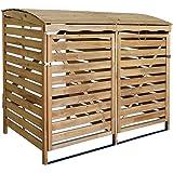 MCombo 2er Mülltonnenbox Mülltonnenverkleidung Müllbox Mülltonnenschrank Holz