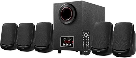 Intex IT- 5100SUF-OS 5.1 Channel Multimedia Speakers (Black)