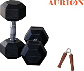 Hex Dumbbells & Home Gym Set Perfect for Build Muscles,Stamina Great Workout Exercise Range with Hand Grip (Compact Size)