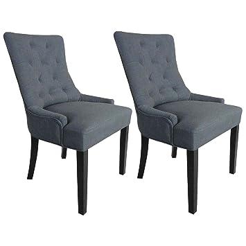 Cocktailsessel grau  Esszimmerstühle 2er Set Cocktailsessel Design - Stühle mit ...