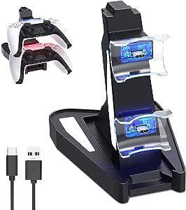 Chargeur Manette Ps5 Pour Playstation 5 Console- USB-C Station de Chargement Ps5 Accessoire Ps5 Pour Manette sans Fil Originale Sony PlayStation 5 DualSense