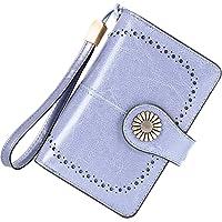 TEUEN Portafoglio Donna Medio RFID Portafogli in Pelle Vera Donna con Portafoto, Capiente Portamonete Donna con Cerniera…