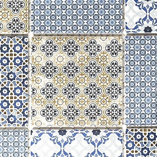Keramik Mosaik Retro beige gelb blau weis Mosaikfliese Wand Fliesenspiegel Küch