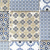 Retro Vintage Mosaik Fliese Keramik weiß blau orange grau für WAND BAD WC DUSCHE KÜCHE FLIESENSPIEGEL THEKENVERKLEIDUNG BADEWANNENVERKLEIDUNG WB22B-1404
