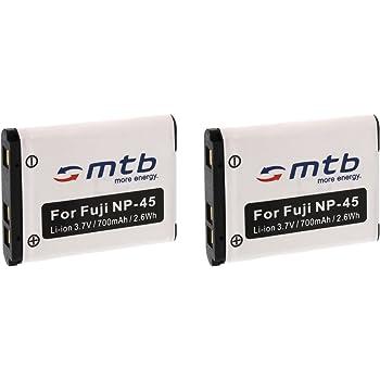 2x Batteria NP-45 per Fuji Finepix J10 J12 J15 Z10 Z20 Z800EXR Z900EXR... Vedi lista