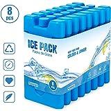 Homewit Blocs Réfrigérants pour Glacières,Lot de 8 x 210 ML Sac Isotherme ou Glacière, Réutilisable Conception Mince et…