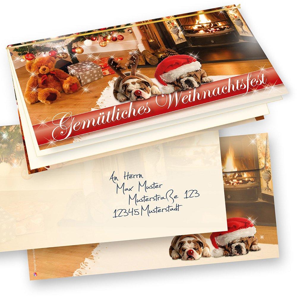 limitierte weihnachtskarten set gemischt kollektion. Black Bedroom Furniture Sets. Home Design Ideas