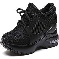 Femmes Plateforme Chaussures Compensées Maille Respirante Lacets Sneakers Décontractées en Plein Air Jogging Marche…