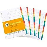 perfectline 5 pièces, 10intercalaires DIN-A4 couleur avec page de garde (5x10), 22,3 x 29,7 cm, séparateurs registre, 5col