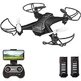 tech rc Mini Drone con Cámara, App WiFi FPV, Modo sin Cabeza, Despegue con Una Tecla y Aterrizaje por Gravedad RTF, Drone con