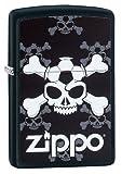 Zippo Unisex Jolly Roger Fußball Regular Sturmfeuerzeug, schwarz matt, One Size