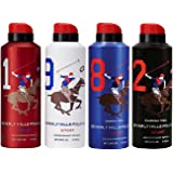 Beverly Hills Polo Club, Deodorant, Pack of 4, 700ml
