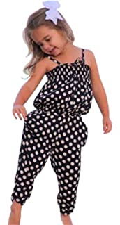 Efaster Toddler Kid Baby Girls Straps Rompers Jumpsuits Piece Pants Clothing