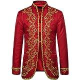 Goosun Mens Bronzing Steampunk Gothic Vest Costume Victorian Medieval Renaissance Brocade Tailcoat Jacket Shirt Coat Vintage