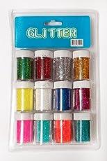 Shoppertize Glitter Powder In 12 Tubes---Craft Diy Fine Glitter Powder