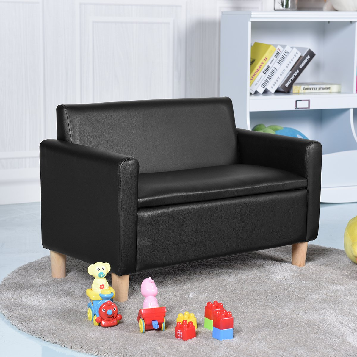 Tremendous Costway Kids Sofa Storage Children Armchair Single Andrewgaddart Wooden Chair Designs For Living Room Andrewgaddartcom