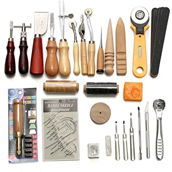 37pcs Professional Leather Craft Tools Leather Craft Sewing Tools
