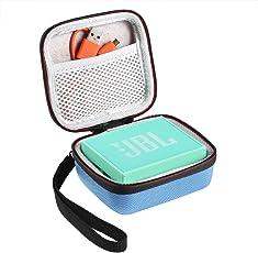 Shucase Hart Reise Tasche für JBL Go Ultra Wireless Bluetooth Lautsprecher(Hellblau)