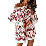 FRAUIT Maglione Donna Collo Alto Lungo Maglioni Natalizio Maglioni Lunghi Ragazza Invernali Vestito Natale Natalizi Pullover