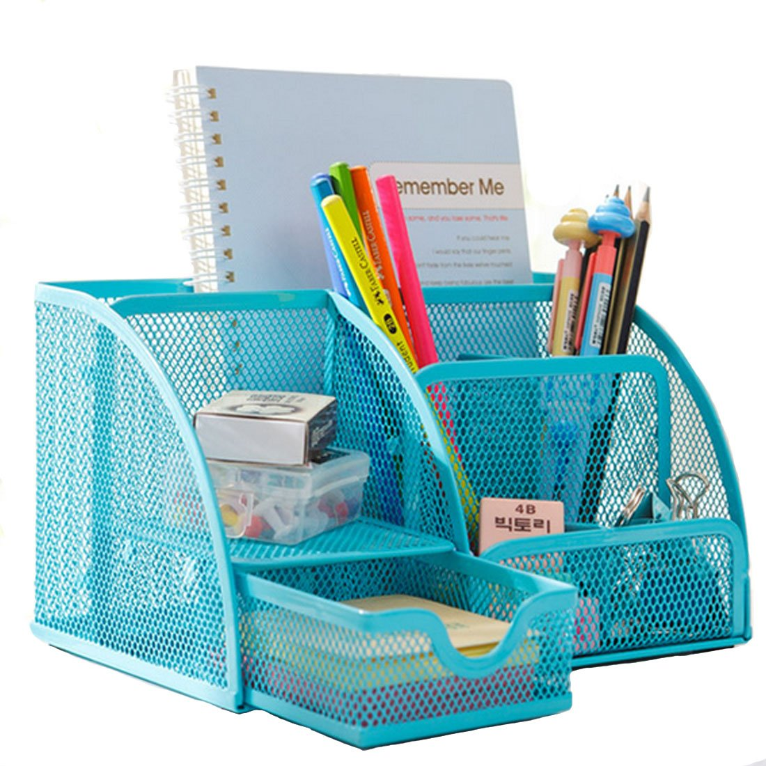 Leben Office Desk Organiser Pen Holder Metal Mesh Pencil Pens Stationery  Container Desk Tidy: Amazon.co.uk: Office Products