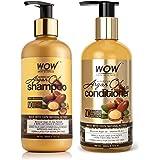 WOW Skin Science Moroccan Argan Oil Shampoo, 300 ml & WOW Skin Science Moroccan Argan Oil Conditioner - No Sulphates, Paraben