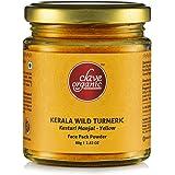 Clave Organic India Private Limited -Kerala Kasturi Manjal/Wild Turmeric/Jungli Haldi - (Yellow 80 g) - Eco-Friendly Glass Ja