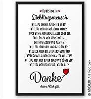 DANKE ABOUKI Kunstdruck - ungerahmt - Geschenk-Idee Hochzeit Verlobung Jahrestag Weihnachten Valentinstag für Sie Ihn Frauen