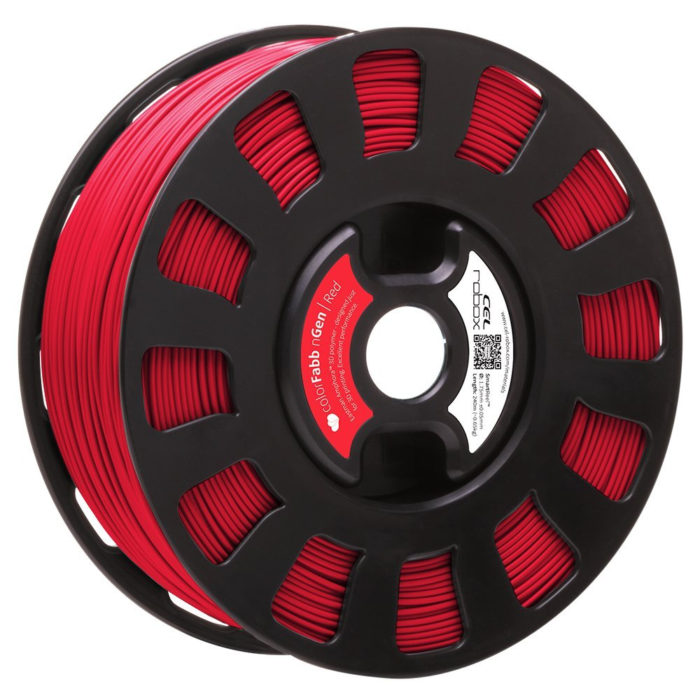 Robox Rbx-pet-ngrd1 Smartreel Colorfabb Ngen Filament, 1.75 mm, Rouge