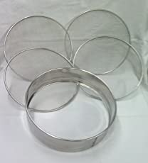 Stainless Steel Sieve with 4 Different Mesh Plates