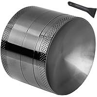 Anpro Macinaspezie Manuale   Macinapepe Smerigliatrice in Alluminio con setaccio e Piano Magnetico per Erba secca e Tabacco con la Migliore qualit agrave    4 Pezzi da 2 15 Pollici