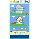Storybook Collection: Frogs & Worms & Butterflies, Daddy Puts up a Picture and At the Beach - Great Picture Book For Kids