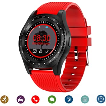 CanMixs Relojes inteligentes Smart Watch Bluetooth CM08 Tarjeta SIM TF con notificación de cámara Sincronización Reloj deportivo Compatible con iPhone ...